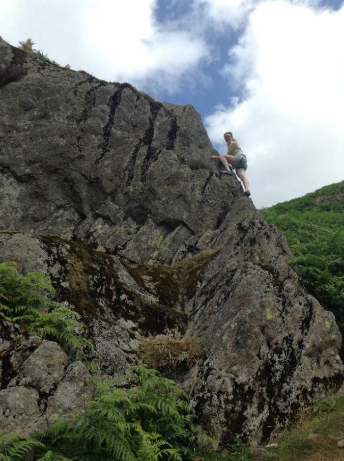 Rock climbing in the Lakes District