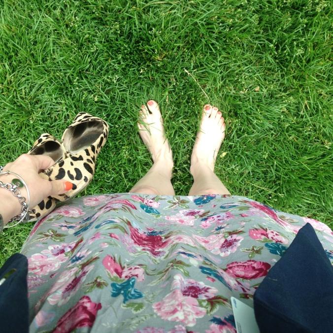 Barefoot in Millennium Park