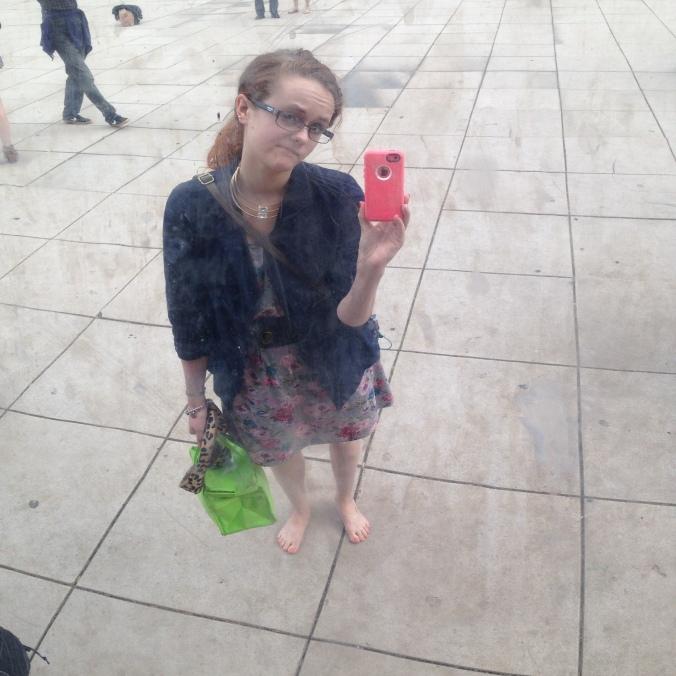 Chicago Bean Selfie
