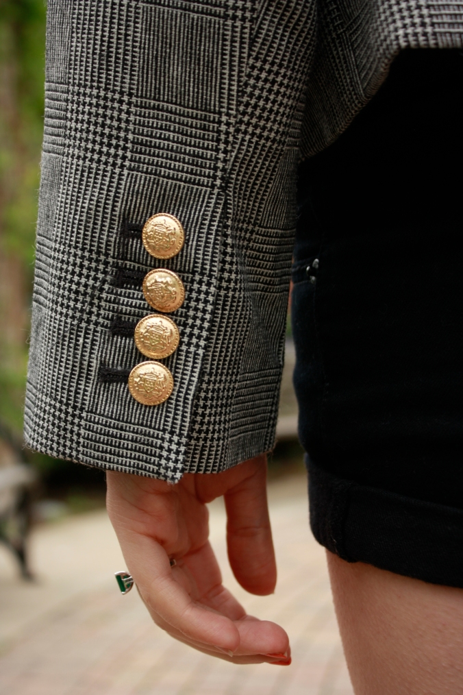 Glen Plaid Blazer Detail