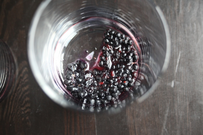 muddled blackberries