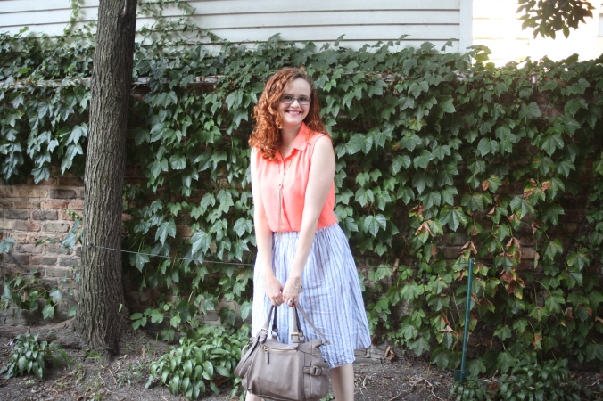 Forever 21 Skirt & Top, ALDO shoes & necklace, Target bag | Stile.Foto.Cibo