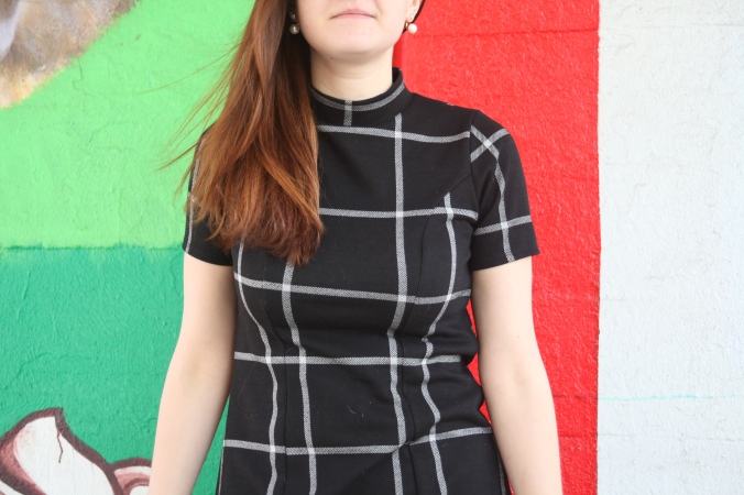 Windowpane dress | Stile.Foto.Cibo