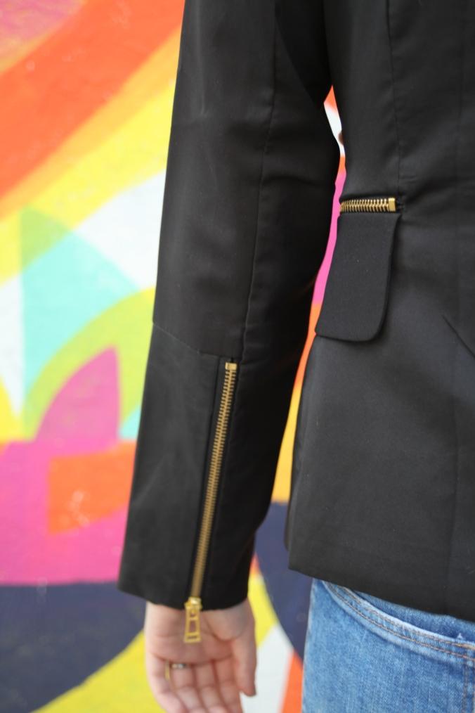 SheInside Leather Detail Blazer | Stile.Foto.Cibo