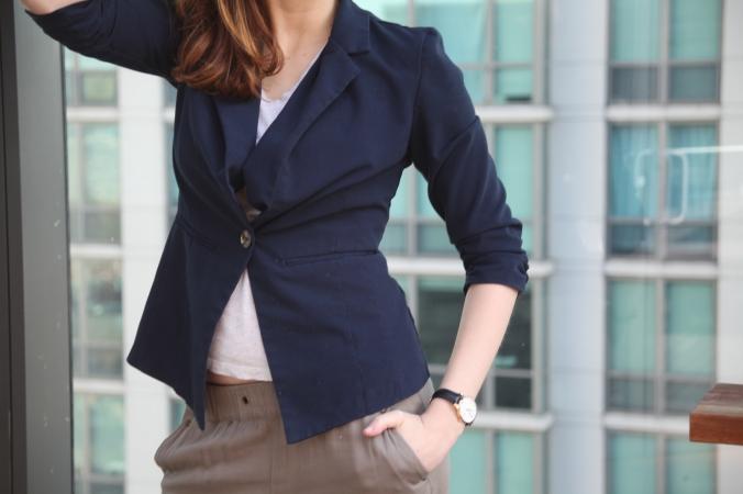 Target pants, Forever 21 blazer | Stile.Foto.Cibo