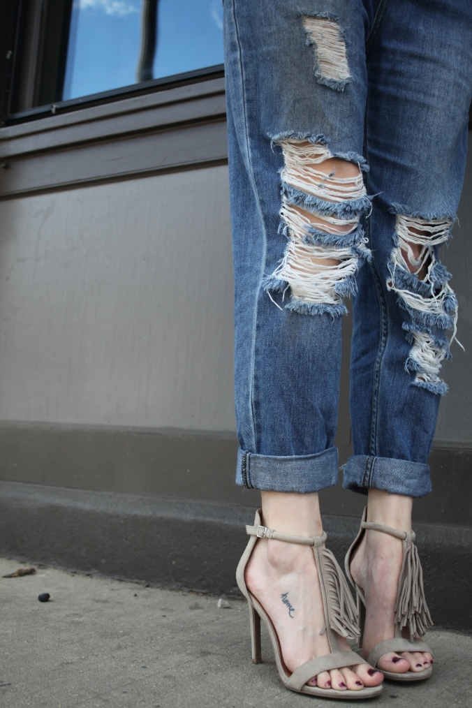Fringe Sandals from Target | Stile.Foto.Cibo